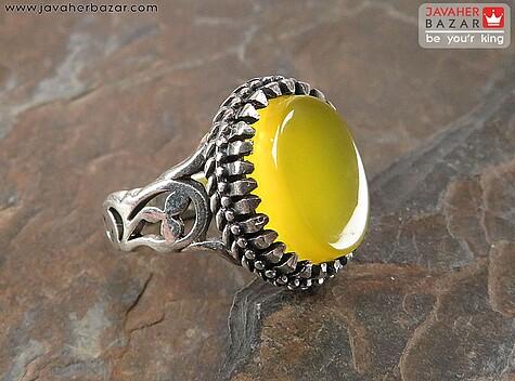 انگشتر عقیق زرد
