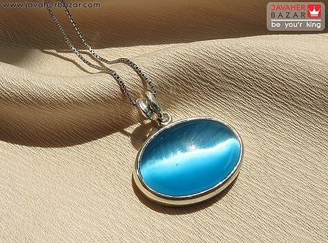 عکس مدال چشم گربه آبی مردانه