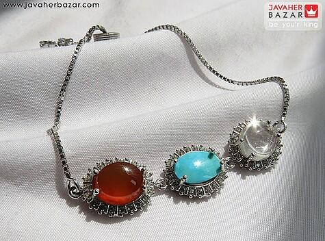دستبند فیروزه آبی
