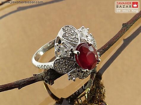 انگشتر قرمز زنانه
