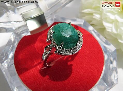 عکس انگشتر زمرد هندی سبز زنانه
