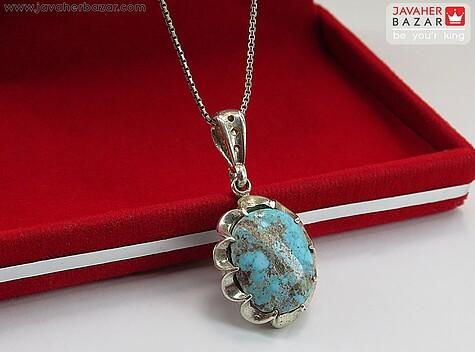 عکس مدال فیروزه آبی مردانه