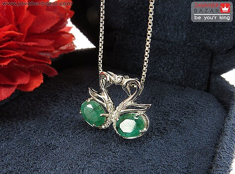عکس مدال زمرد هندی سبز زنانه
