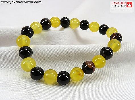 عکس دستبند عقیق زرد مردانه