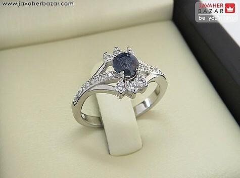 انگشتر یاقوت آبی زنانه