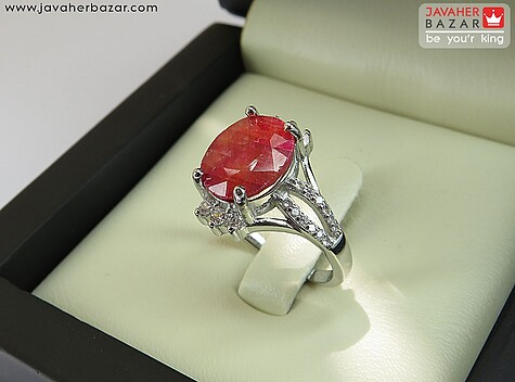انگشتر یاقوت قرمز زنانه
