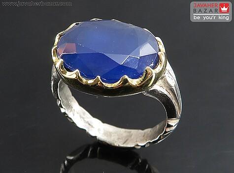 عکس انگشتر جید آبی مردانه
