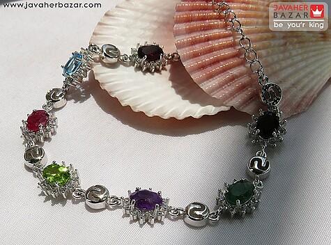 عکس دستبند توپاز سبز زنانه