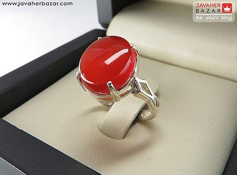 انگشتر عقیق قرمز زنانه