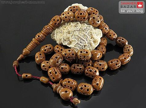 عکس تسبیح کوک (کشکول) قهوهای 33 دانه