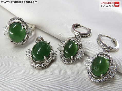 عکس سرویس یشم هندی سبز زنانه