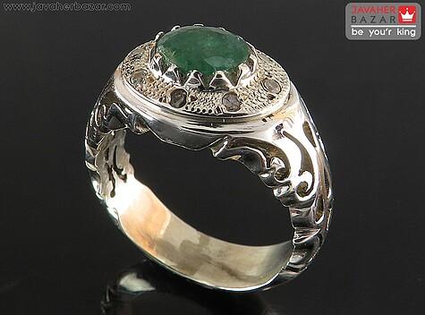 انگشتر زمرد سبز