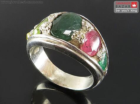 انگشتر زبرجد سبز مردانه