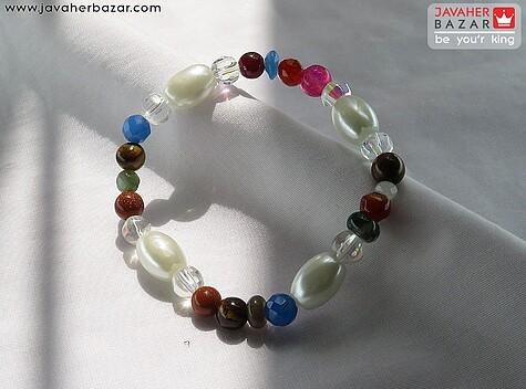دستبند عقیق سفید زنانه