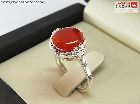 انگشتر عقیق یمن قرمز زنانه