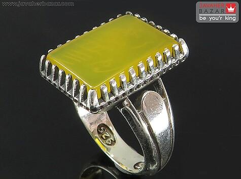 انگشتر زرد مردانه