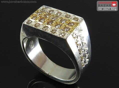 عکس انگشتر الماس سفید
