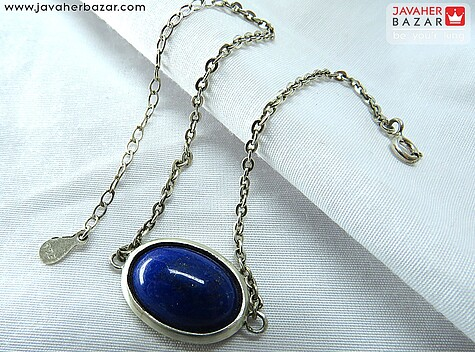عکس دستبند لاجورد آبی زنانه