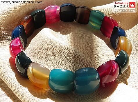 دستبند عقیق آبی زنانه