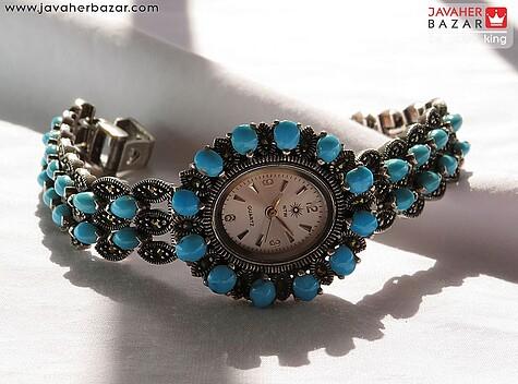 عکس ساعت فیروزه نیشابوری عجمی آبی زنانه