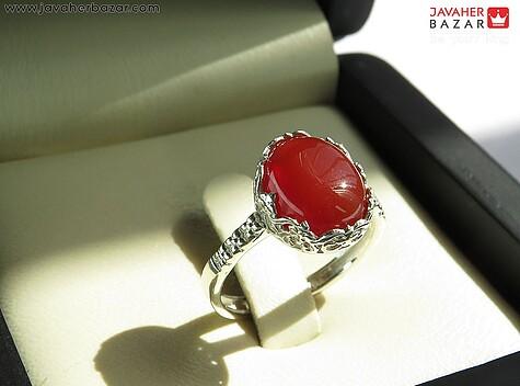 عکس انگشتر عقیق قرمز زنانه