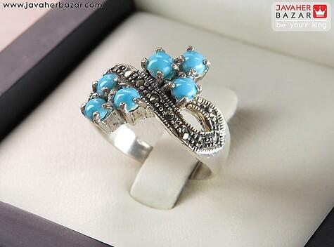 انگشتر فیروزه نیشابوری عجمی آبی زنانه