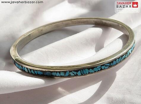 دستبند فیروزه آبی مردانه