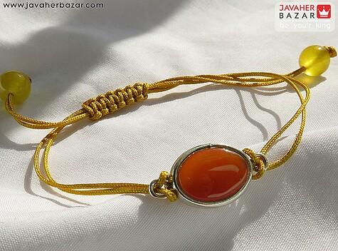 عکس دستبند عقیق یمن زرد زنانه