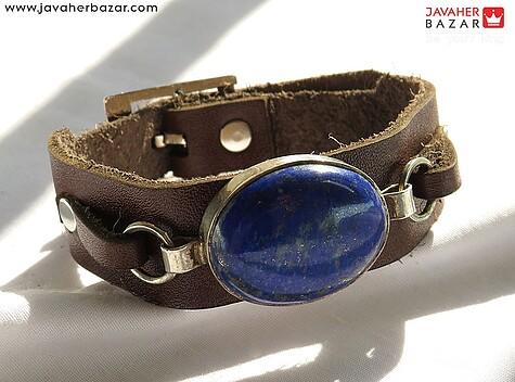 عکس دستبند لاجورد آبی مردانه