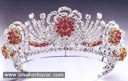 تاجها و جواهرات سلطنتی دربار انگلستان